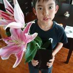 母の日にはカーネーション以外の花を贈るのですが、今年は・・・ちょっと反省。